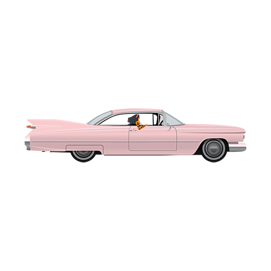 ChromeFest Pink Caddy